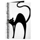 Retro Black Cat Journal