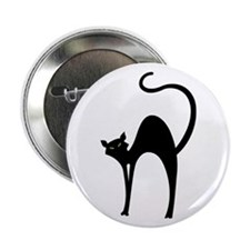 Retro Black Cat Button