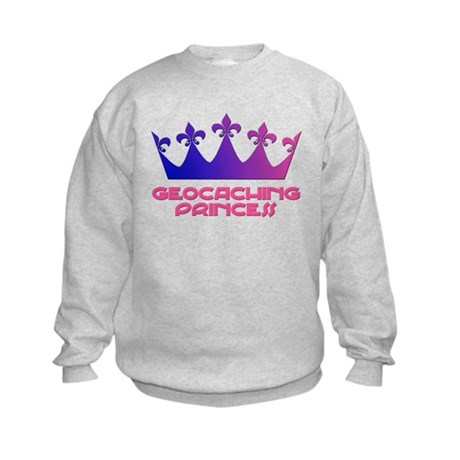 Geocaching Princess Blue/Pink Kids Sweatshirt
