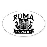 Roma SPQR Oval Decal