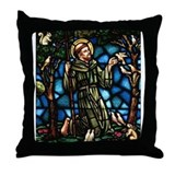 St Francis of Assisi Throw Pillow
