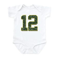 12 Aaron Rodgers Packer Marbl Infant Bodysuit