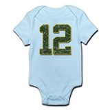 12 Aaron Rodgers Packer Marbl Onesie