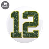 "12 Aaron Rodgers Packer Marbl 3.5"" Button (10 pack"