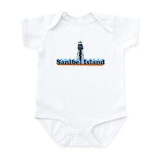 Sanibel Island FL - Lighthouse Design Infant Bodys