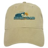 Sanibel Island FL - Waves Design Baseball Cap