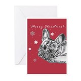 Frenchie Christmas Greeting Cards (Pk of 10)