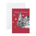 Frenchie Holiday Greeting Card
