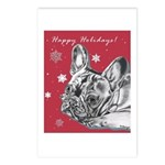 Frenchie Holiday Postcards (Package of 8)
