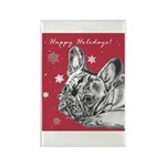 Frenchie Holiday Rectangle Magnet