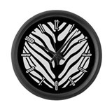 Zebra Stripe Motif Large Wall Clock