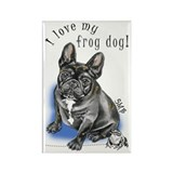 Frog Dog (BRINDLE, BOY) Rectangle Magnet