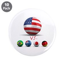 "USA vs The World 3.5"" Button (10 pack)"