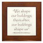 Winston Churchill Preservation Quote Framed Tile