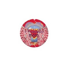 Twilight Mom Crimson Grunge Winged Crest Mini Butt