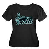 Popular Music Speaks Women's Plus Size Scoop Neck