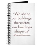 Winston Churchill Preservation Quote Journal