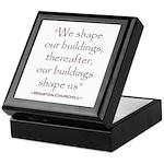 Winston Churchill Preservation Quote Keepsake Box