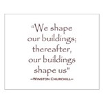 Winston Churchill Preservation Quote Small Poster