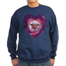 Twilight Mom Violet Grunge Heart Sweatshirt