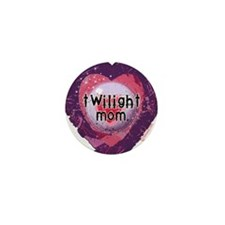 Twilight Mom Violet Grunge Heart Mini Button (100