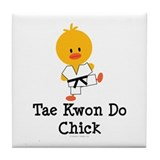 Tae Kwon Do Chick Tile Coaster