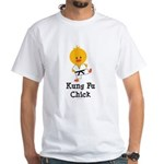 Kung Fu Chick White T-Shirt