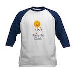 Kung Fu Chick Kids Baseball Jersey