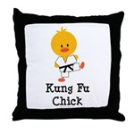 Kung Fu Chick Throw Pillow