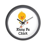 Kung Fu Chick Wall Clock