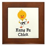 Kung Fu Chick Framed Tile