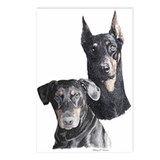 Two Dobermans Postcards (Pkg. of 8)