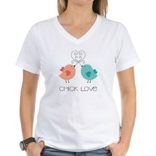 Women's Chick Love V-Neck T-Shirt