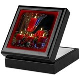 Christmas Candles Keepsake Box