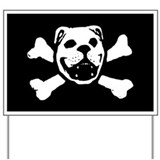 Bulldog Skull Yard Sign