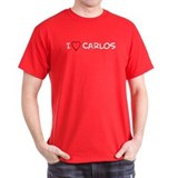 I Love Carlos Black T-Shirt