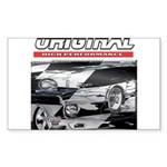 Team Mustang Rectangle Sticker 50 pk)