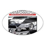 Team Mustang Oval Sticker (10 pk)