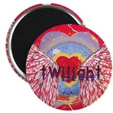 Twilight Mystic Crimson Heart Wings Magnet
