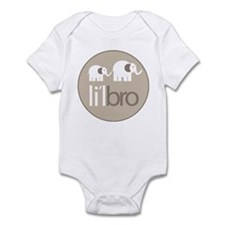 little brother t-shirt elephant Infant Bodysuit