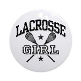 Lacrosse players Round Ornaments