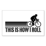 This Is How I Roll (male) Rectangle Decal