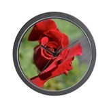 Red Rose Bud Wall Clock