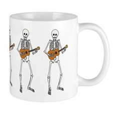 Ukulele Skeleton Coffee Mug