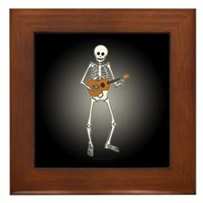 Ukulele Skeleton Framed Tile