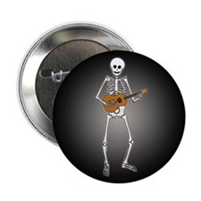 "Ukulele Skeleton 2.25"" Button (100 pack)"