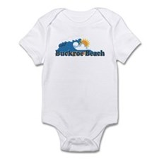 Buckroe Beach VA - Waves Design Infant Bodysuit