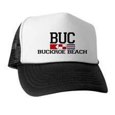 Buckroe Beach VA - Nautical Design Trucker Hat