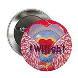 "Twilight Mystic Crimson Heart Wings 2.25"" Button ("