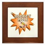 Hocky Mom Framed Tile